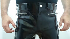 RUBBER PADDED MOTORCYCLE JEANS BY BLACK BODY FETISH BDSM HEAVY RUBBER SIZE 50