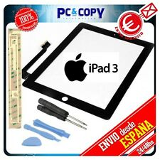 PANTALLA TACTIL PARA IPAD 3 NEGRA DIGITALIZADOR GEN CRISTAL TOUCH SCREEN REPARAR