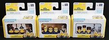 3 MINIONS MICRO PLAY SETS Despicable Mini Dolls BUNDLE Vive Le, Batty, Eye Matie