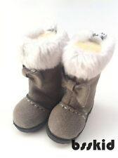 Blythe Pullip Dal Lati Yellow Doll Shoes GREY Winter Fur Boots
