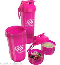 SMARTSHAKE ORIGINAL2GO XL 800ML PINK SHAKE PROTEIN SHAKER MIXER BOTTLE BLENDER