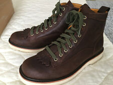 Timberland Abington Brown Leather Boots with Kilt Detail, US 11 EU 45