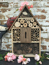 Wooden Insect Hotel House Shelter Wall Hanging Bee Bugs Garden Nesting Box