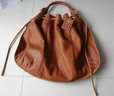 JUICY COUTURE Hobo Bag Brown 100%  Cowhide Leather Gold Hardware