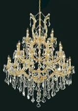 """Palace Maria Theresa 28 Light 52""""H Crystal Chandelier in Gold"""