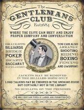 El Caballero's Club Poker Billar puente Cueva de hombre de Metal Placa Señal De Estaño 1141