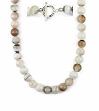 "Botswana agate bead necklace - 10mm -16""/18""/24"" NKL230017"