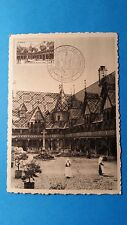 FRANCE CARTE MAXIMUM YVERT 499 HOTEL DIEU VIN 5F BEAUNE 1952 L135