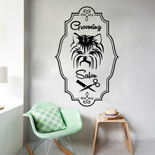 Wall Decals Grooming Salon Decal Vinyl Sticker Dog Pet Shop Bedroom MS536