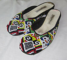 Beverly Feldman Beaded Flats Slip On Shoes Women's US Size 8