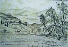 André  Dunoyer des Segonzac Paysage de Provence Original Lithographie
