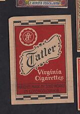 Ancienne étiquette  allumettes paquet Tchécoslovaquie  BN9818 Tatler Virginia