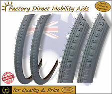 Pair Wheelchair or Tyre Grey 24 X 1 3/8 37-501 Non Marking Wheel Chair