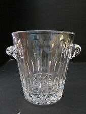 "neiman marcus lead crystal glass ice bucket. 5-3/4"" tall. Cut Pressed. Modern"