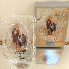 Lenox GORHAM BEST FRIENDS PHOTO FRAME SOLID CRYSTAL MIB For 5x7 PICTURE NEW Bday