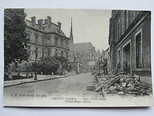 CPA CARTE POSTALE RUINES AMIENS SOMME BOMBARDEMENTS RUE VICTOR HUGO 14/18 WWI