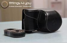 Hülle Tasche Etui Leder  für Sony NEX-3N NEX 3N A5000 A5100 schwarz !NEUHEIT!