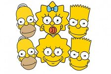 The Simpsons Variety 6 Pack Card Fun Face Masks with Bart, Homer, Maggie & Lisa
