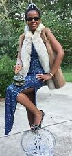 Designer Custom Fox & Sable Mink Hue Fur Vest Coat Jacket +Free brim Hat S-M 4-8