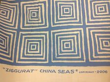 Quadrille China Seas Fabric- Ziggurat Reverse/French Blue Tint- 20 yds (6175-21)