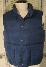 Vintage  Woolrich Puffy Ski Vest Blue Navy Down Filled Men's Medium