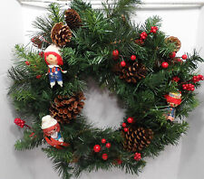 "18"" Holiday Wreath Home Decor Raggedy Ann Andy Ornament Round Christmas"