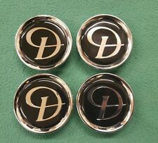 DAIMLER JAGUAR BLACK SILVER D ALLOY WHEEL CENTER CAP BADGES BADGE NEW GENUINE