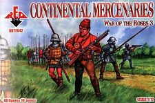 WAR OF THE ROSES 3. CONTINENTAL MERCENARIES 40 FIGURES 1/72 RED BOX 72042