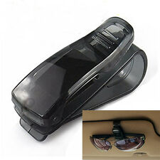 1Pc Black Car Auto Sun Visor Glasses Sunglasses Card Ticket Holder Clip New