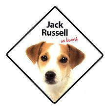 Personalised Jack Russell On Board Car Sign Black Any Design Of Your Choice