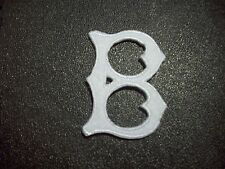"""White Brooklyn Dodgers Shaped B 2"""" by 1 1/4"""" Iron-On Patch"""