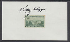 Kitty Higgins, NTSB Member, signed 3c White House stamp on card