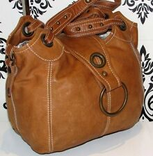 GREAT CON VINTAGE RIVER ISLAND REAL LEATHER TAN SLOUCH BOHO TOTE SHOULDER /PURSE