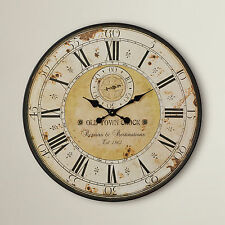 Large Roman Numeral Wall Clock French Style Vintage Shabby Antique Big Oversized