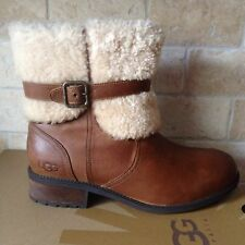 Ugg Blayre ll Chestnut Leather Sheepskin Ankle Boots US 9.5 Womens 1008220