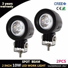 2X 2'' 10W Cree LED Work Light Spot Offroad Driving Fog Lamp Motorcycle 4WD UTE