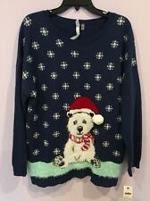 NWT NY Collection XL Navy Christmas Sweater Ugly Christmas Sweater Party