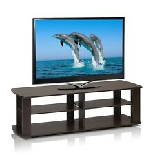 Furinno THE Entertainment Center TV Stand, Dark Brown 11191DBR TV Stand NEW