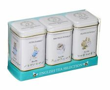 NEW ENGLISH TEAS SELECTION OF ENGLISH FINE TEAS IN BEATRIX POTTER MINI TINS