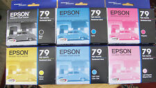 2017 NIB Set 6 Genuine Epson 79 T079 InksT0791-T0796 OEM_Printer1400/1430