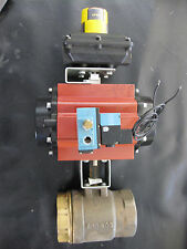 """3"""" Brass Valve 316 SS stem & ball, Watts Actuator Solenoid Display End switches"""