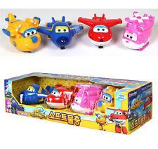Super Wings Soft Water gun 4 Airplane Set Toy Bath Animation Children Kids Gift