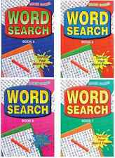SET OF 4 A5 ADULT WORDSEARCH PUZZLE BOOKS 160 PAGES EACH TRAVEL SIZE SERIES 2070