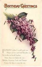 Birthday Greetings, lilac, flower, Fondest Wishes