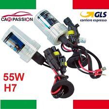Coppia lampade bulbi kit XENON Lancia Delta H7 55w 6000k lampadina HID fari luci