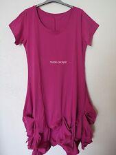 BORIS INDUSTRIES  Traum Ballon Kleid Baumwolle Raffsaum pink 48-50 (5)