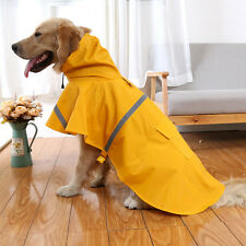 Dog Rain Coat Pet Jacket Puppy Outdoor Waterproof Reflective Clothes Hooded New