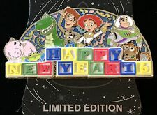 DISNEY PIN TOY STORY NEW YEAR 2016 BUZZ WOODY REX WDI CAST EXCLUSIVE LE 250