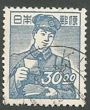 Japan Scott# 434, Postman, Blue, 30y, Used, 1949