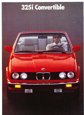 1987 BMW 325i Convertible 20-page Original Car Sales Brochure Catalog